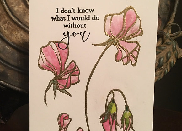 "Sweet Pea Thank You 5.5"" x 7"""