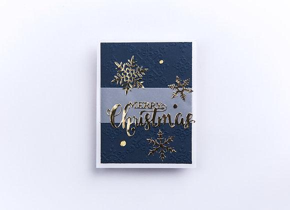 """Christmas Snowflakes 5"""" x 7"""" Religious Greeting"""