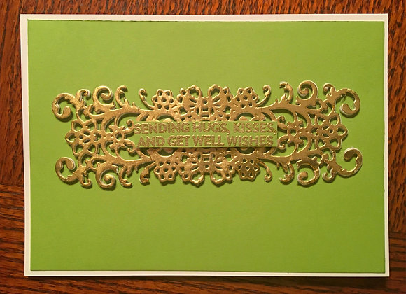"Chartreuse & Gold Filigree 4.25"" x 5.5"""