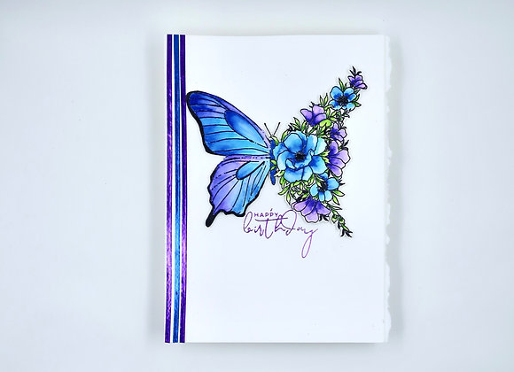 Floral Butterfly Birthday Card