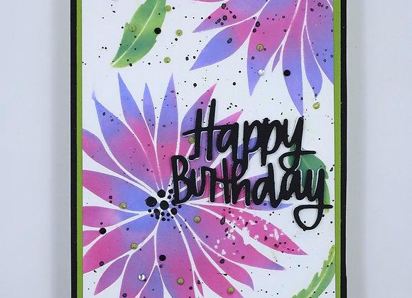 Purple & Pink Dahlia Birthday Flowers