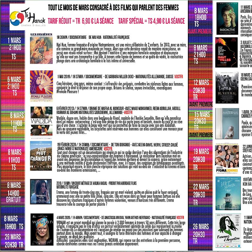 Journée internationale des femmes + mois de mars consacré aux films qui parlent des femmes