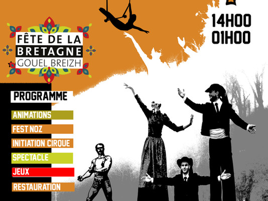 Saint Goustan fait son cirque pour la fête de la Bretagne!