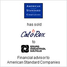 American Standard sold Cal O Rex