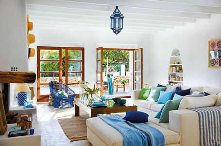 Белый интерьер средиземноморский стиль