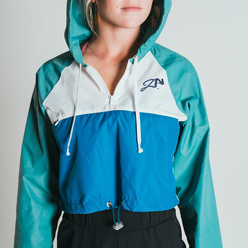 Cropped Windbreaker Jacket