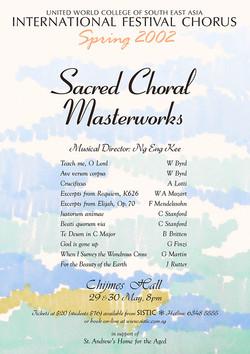 Spring 2002 - Sacred Choral Masterworks