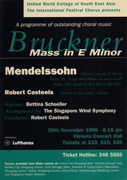 Winter 1996 - Bruckner and Mendelssohn