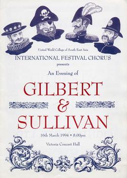 Spring 1994 - An Evening of Gilbert and Sullivan