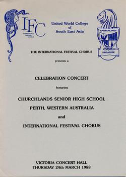 Spring 1988 - Celebration Concert