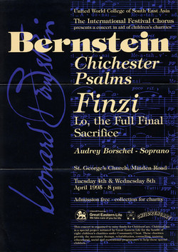 Spring 1995 - Bernstein and Finzi