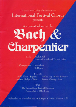 Winter 1993 - Bach and Charpentier