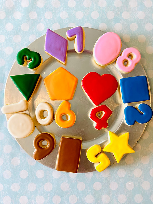 Numbers and Shapes Cookie Set