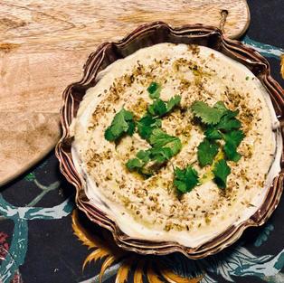 Hummus met dukkah