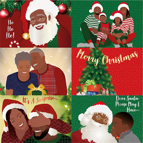 Pack of 6 - Christmas  Collection