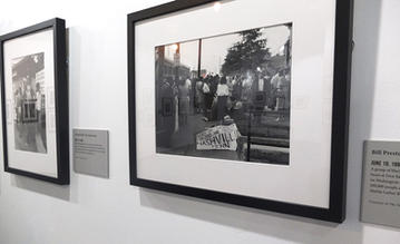 """On August 27, 1963, at the First Baptist Church, a group of black and white Nashvillians boarded buses for the March on Washington for Jobs and Freedom. They were among the 200,000 people at the Lincoln Memorial who heard Dr. Martin Luther King Jr.'s """"I Have a Dream"""" speech. Photo by Bill Preston. Courtesy of The Tennessean"""