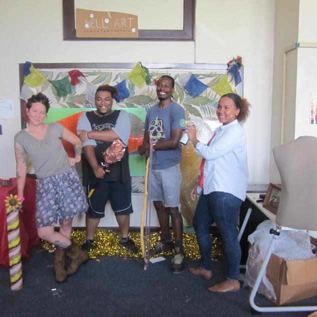 Teaching Artists for ON 2017: Courtney Adair Johnson, Marlos E'van, Joseph (DoughJoe) Love, Micheala IntVeld Sutherlin