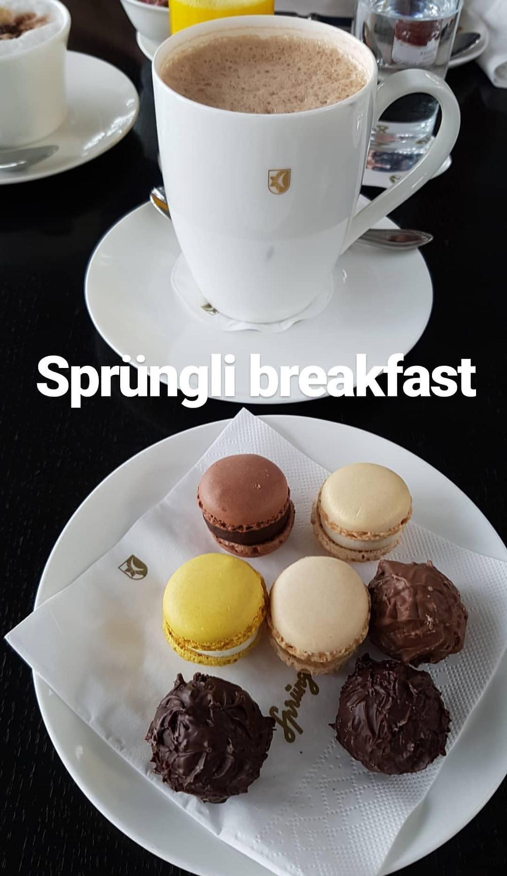Sprüngli Frühstück am Flughafen Zürich