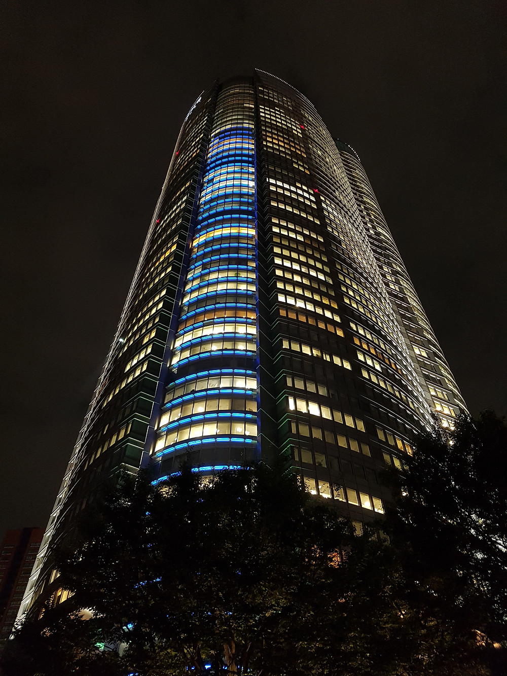 Mori-Tower in Roppongi Hills bei Nacht