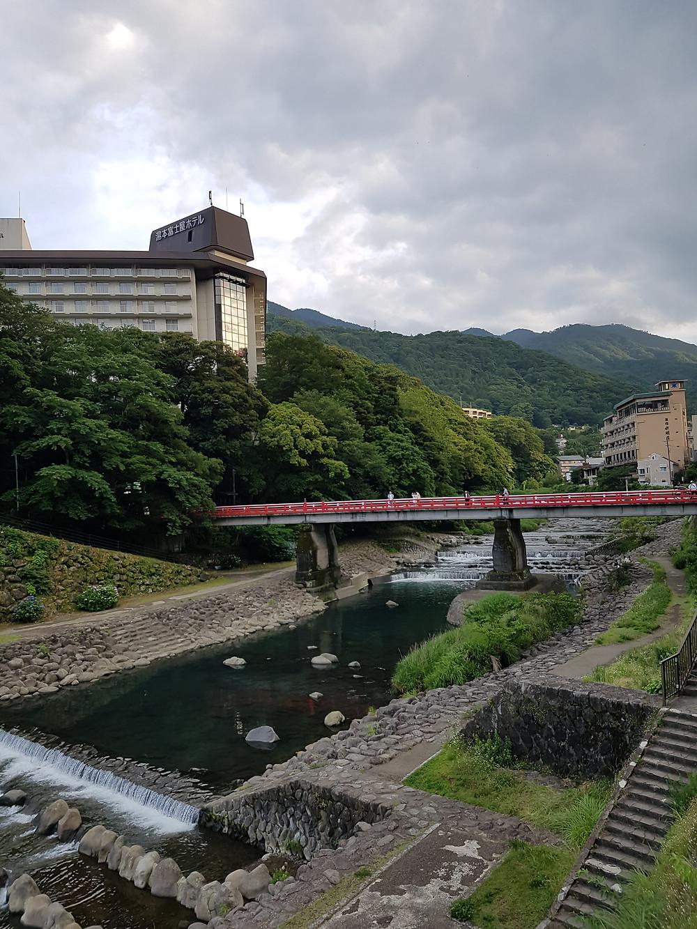 Brücke in Hakone-Yumoto