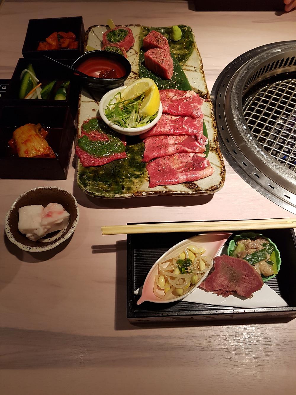 Speisen im Restaurant Kyoto Yakiniku (BBQ) HIRO Kiyamachi