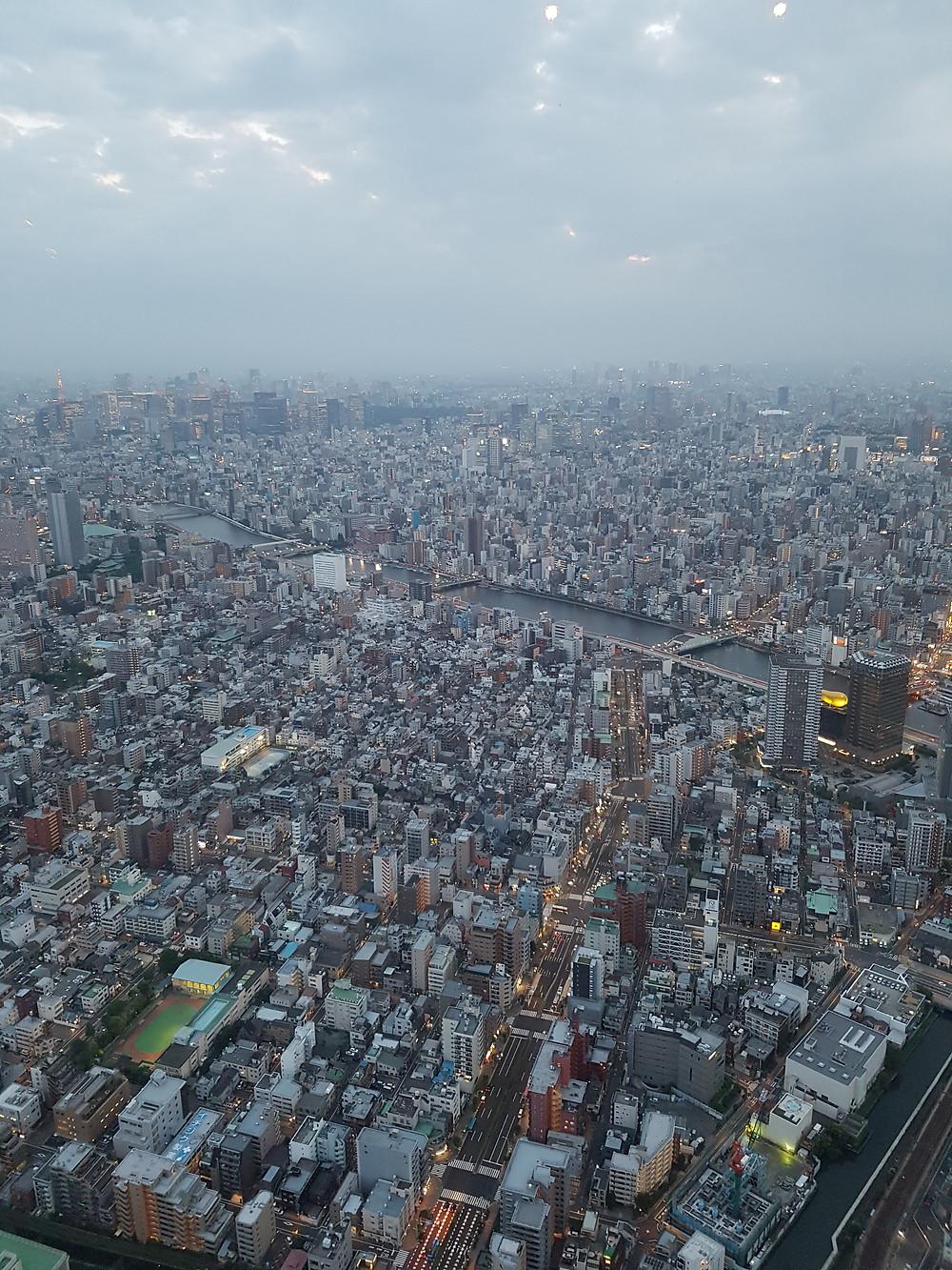Sicht über Tokyo vom Tokyo Skytree