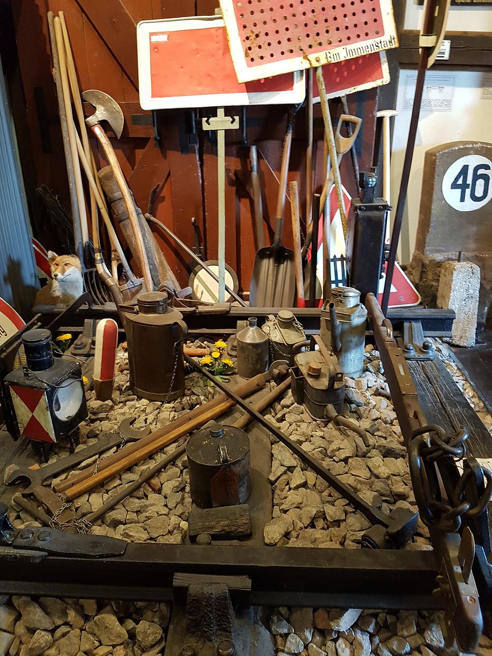Werkzeug im Zugmuseum