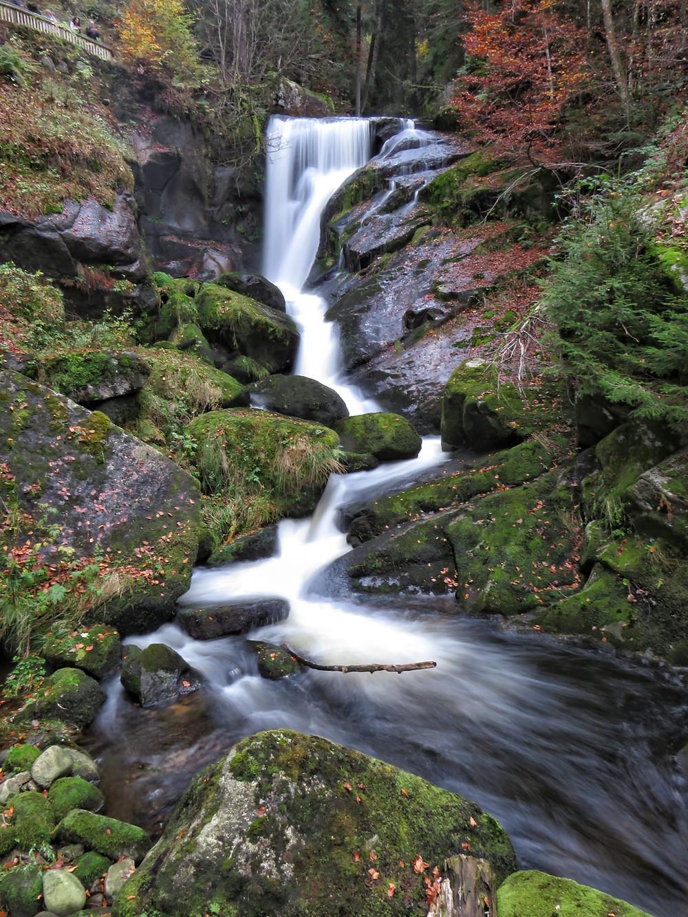 Filigranster Abschnitt der Wasserfälle