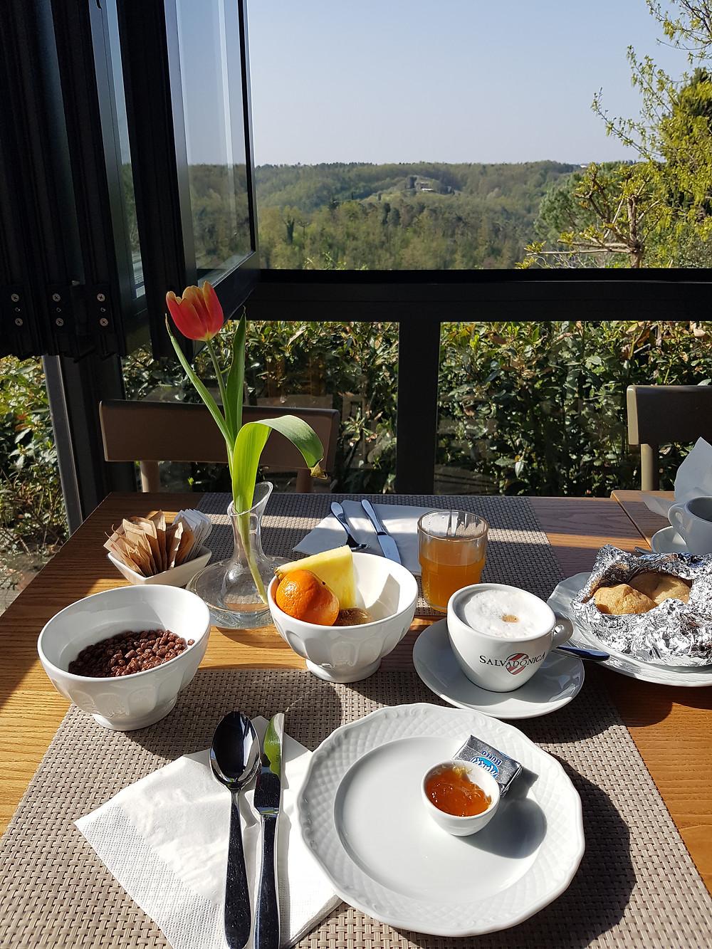 Frühstück mit Aussicht - Hotel Salvadonica