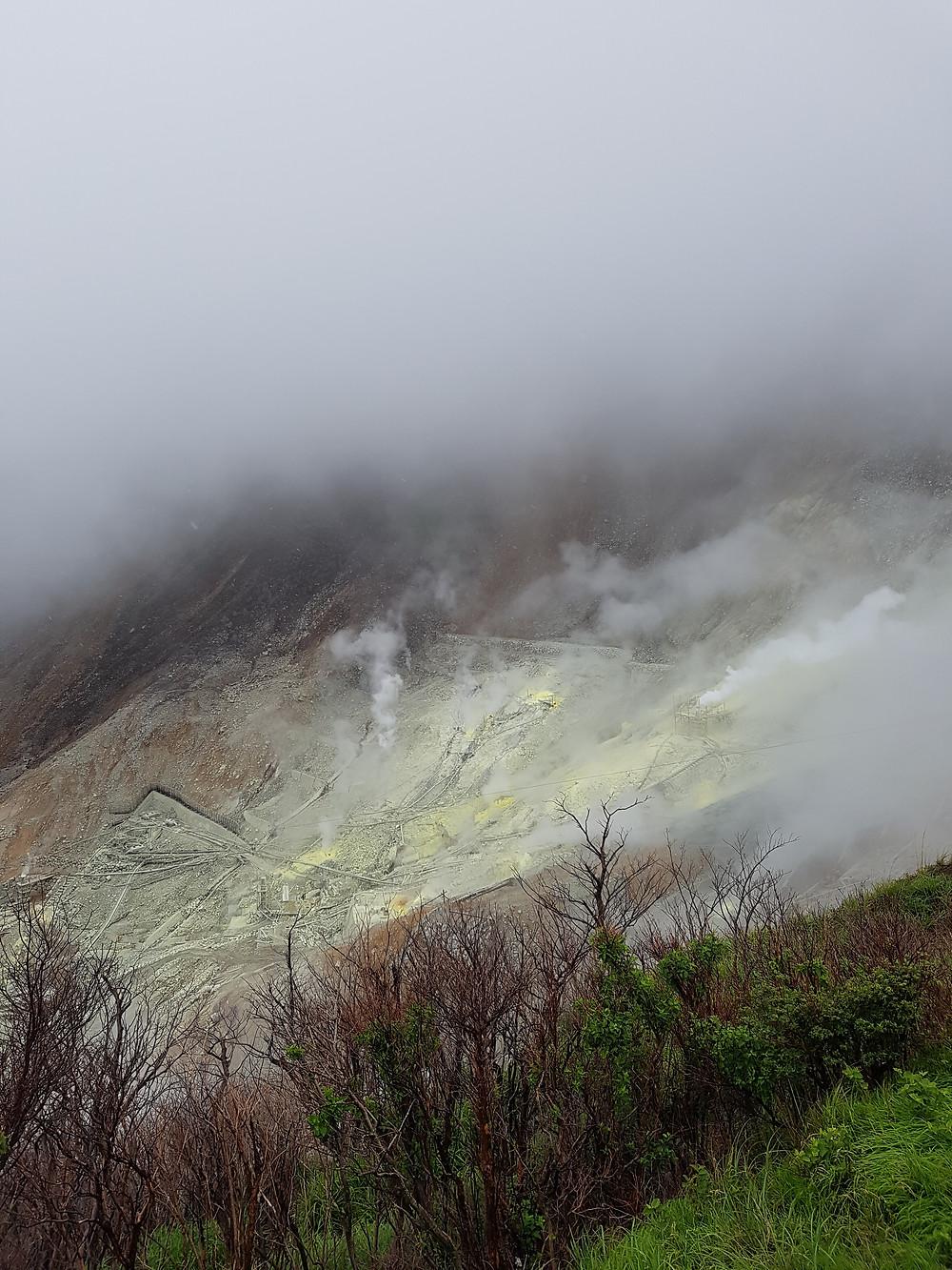 Fumarole auf dem Mount Hakone