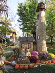 Halloween-Dekoration im Europapark
