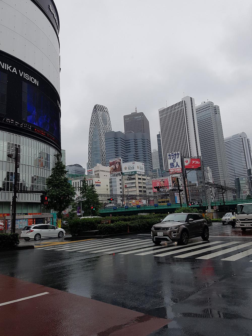 Shinjuku mit Sicht zum Mode Gakuen Cocoon Tower