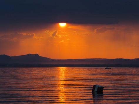 Der vielleicht schönste Sonnenuntergang am Bodensee - Hotspot auf der Unesco-Weltkulturerbe Insel