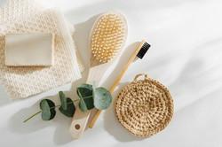 Soap Eco Bag, bamboo toothbrush, natural
