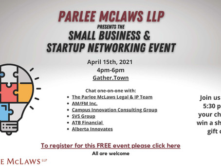 Parlee McLaws LLP Presents the Small Business & Startup Networking Event