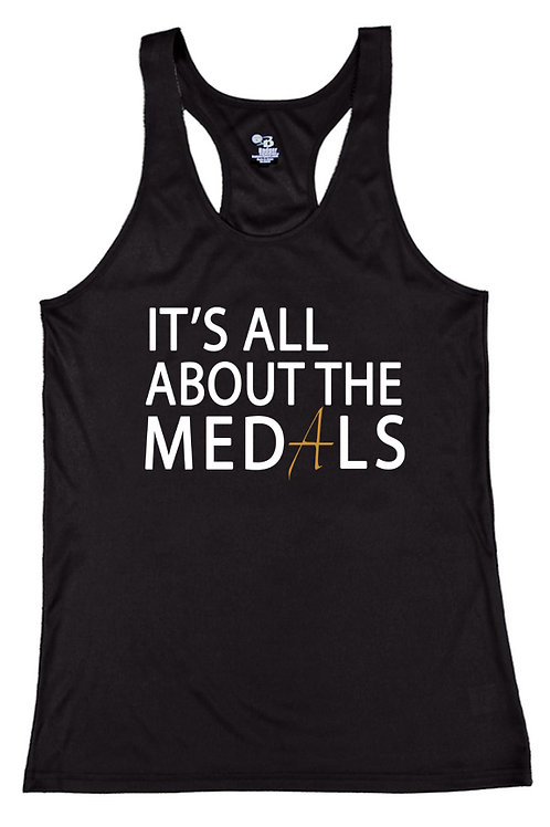 Women's 'It's All About the Medals' Active Tank