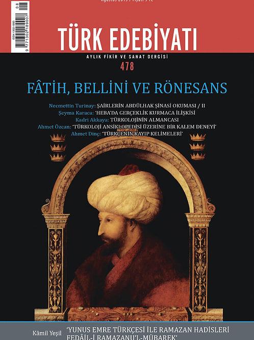 Türk Edebiyatı 478. Sayı