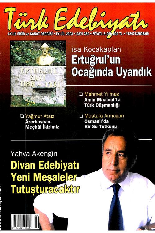 Türk Edebiyatı Dergisi 359. Sayı