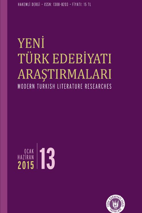 Yeni Türk Edebiyatı Araştırmaları 13