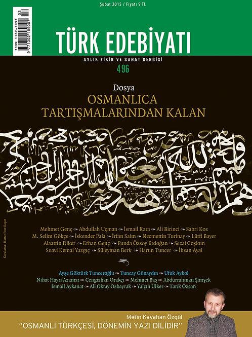 Türk Edebiyatı Dergisi 496. Sayı