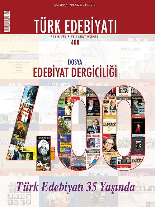 Türk Edebiyatı Dergisi 400. Sayı