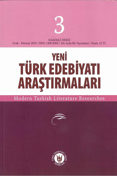 Yeni Türk Edebiyatı Araştırmaları 3