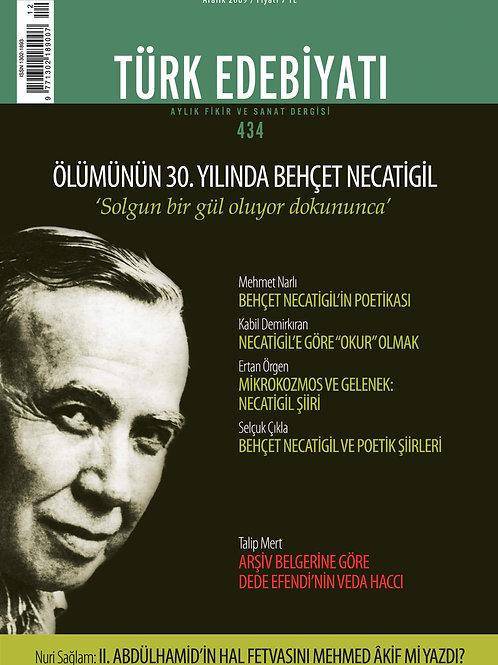 Türk Edebiyatı Dergisi 434. Sayı