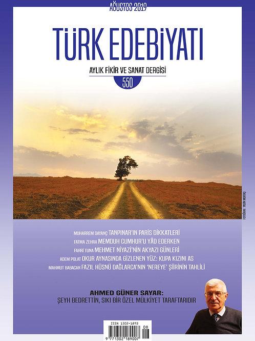Türk Edebiyatı 550.Sayı