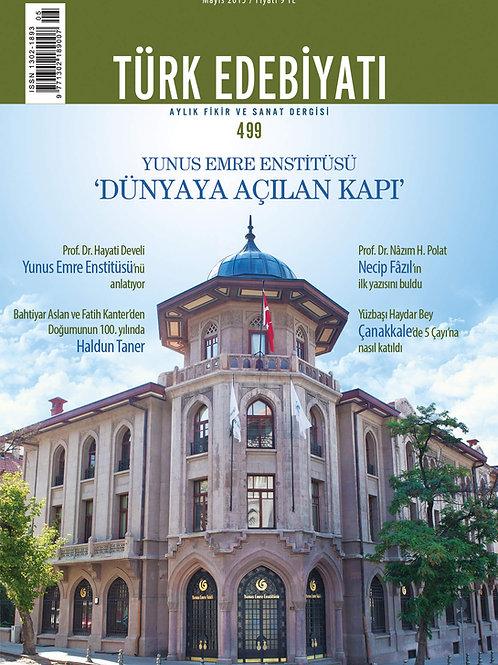 Türk Edebiyatı Dergisi 499. Sayı