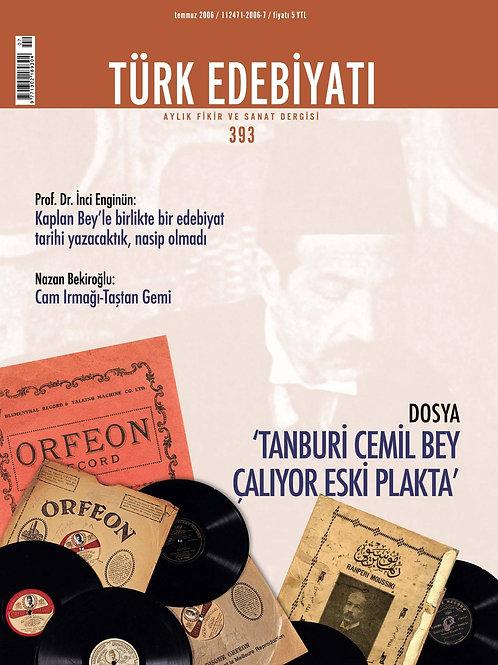 Türk Edebiyatı Dergisi 393. Sayı