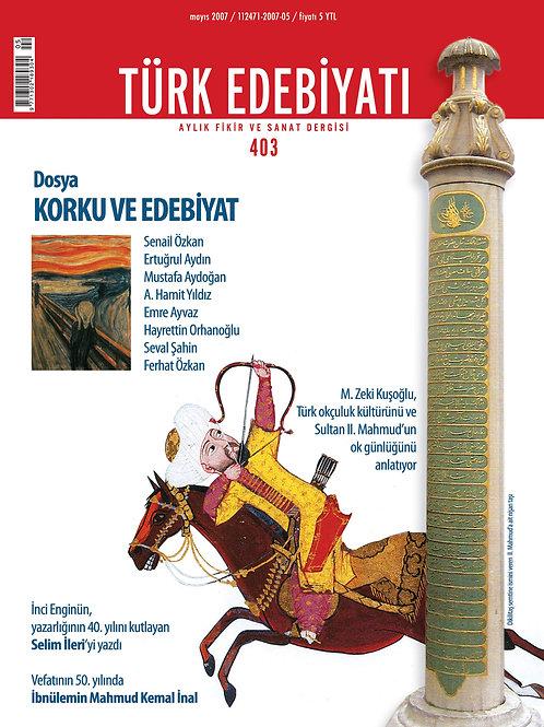 Türk Edebiyatı Dergisi 403. Sayı