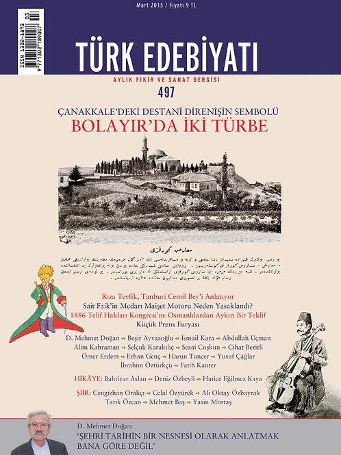 Türk Edebiyatı 497. Sayı