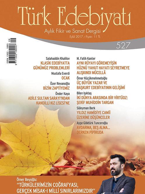 Türk Edebiyatı Dergisi 527. Sayı