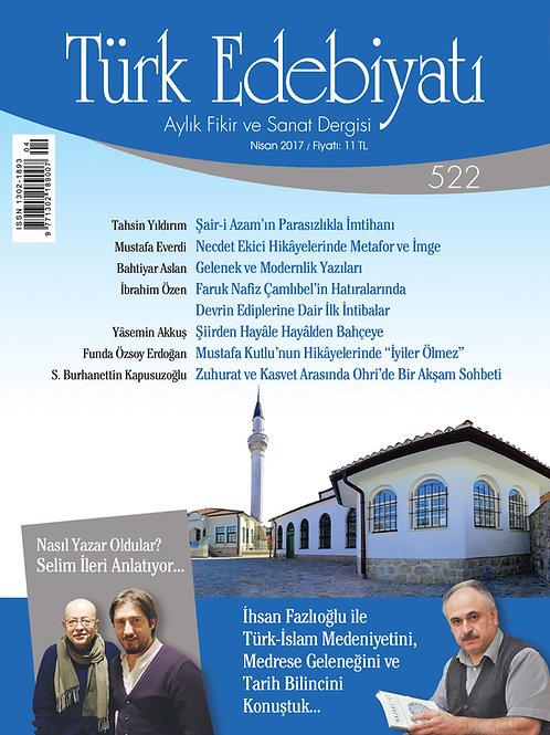 Türk Edebiyatı Dergisi 522. Sayı